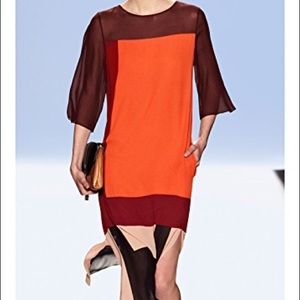 BCBGMAXAZRIA Runway colorblock dress - a steal!